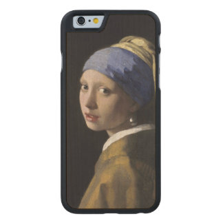Girl with a Pearl Earring by Johannes Vermeer Carved Maple iPhone 6 Case