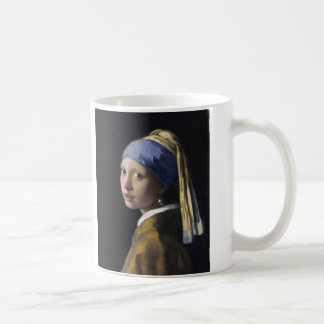 Girl with a Pearl Earring by Johannes Vermeer Classic White Coffee Mug
