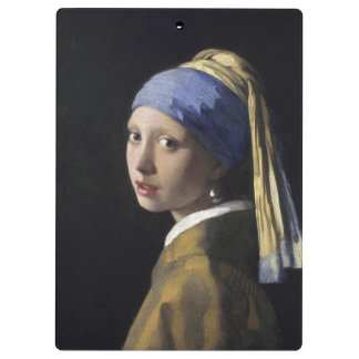 Girl with a Pearl Earring by Johannes Vermeer Clipboard