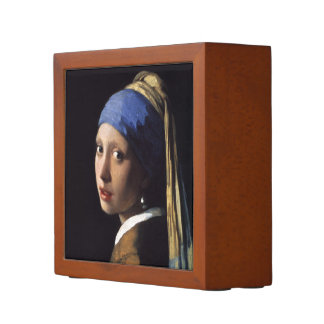 Girl With A Pearl Earring by Johannes Vermeer Desk Organizers