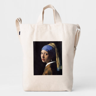 Girl With A Pearl Earring by Johannes Vermeer Duck Bag