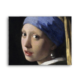 Girl with a Pearl Earring by Johannes Vermeer Envelope