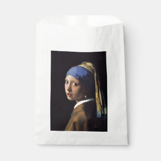 Girl With A Pearl Earring by Johannes Vermeer Favor Bag