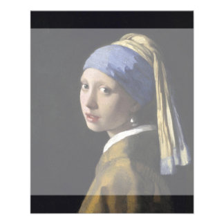 Girl with a Pearl Earring by Johannes Vermeer Full Color Flyer