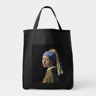 Girl with a Pearl Earring by Johannes Vermeer Grocery Tote Bag