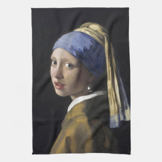 Girl with a Pearl Earring by Johannes Vermeer Towel