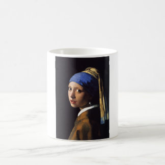Girl with a pearl earring. By Johannes Vermeer Magic Mug