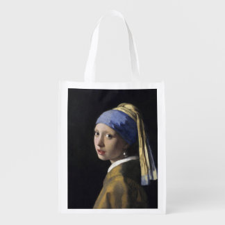 Girl with a Pearl Earring by Johannes Vermeer Market Tote
