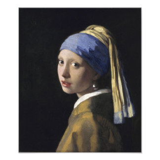 Girl with a Pearl Earring by Johannes Vermeer Photo Print