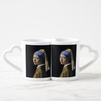 Girl with a Pearl Earring by Johannes Vermeer Lovers Mug Sets