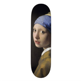 Girl with a Pearl Earring by Johannes Vermeer Skate Board