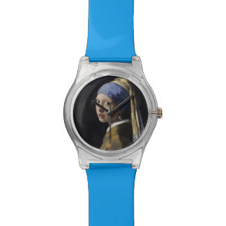 Girl with a Pearl Earring by Johannes Vermeer Wrist Watch