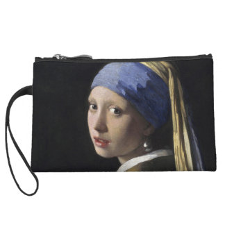 Girl with a Pearl Earring by Johannes Vermeer Wristlet Wallet