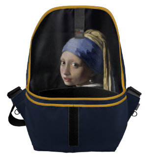 Girl with a Pearl Earring by Vermeer Inside Messenger Bag