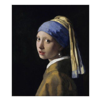 Girl with a Pearl Earring by Vermeer, Large Poster