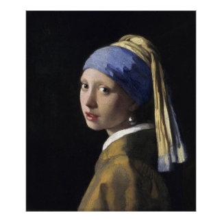 Girl with a Pearl Earring by Vermeer, Premium Poster