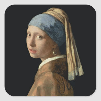 Girl with a Pearl Earring, c.1665-6 (oil on canvas Stickers