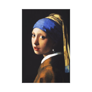 Girl with a Pearl Earring Canvas Wrap