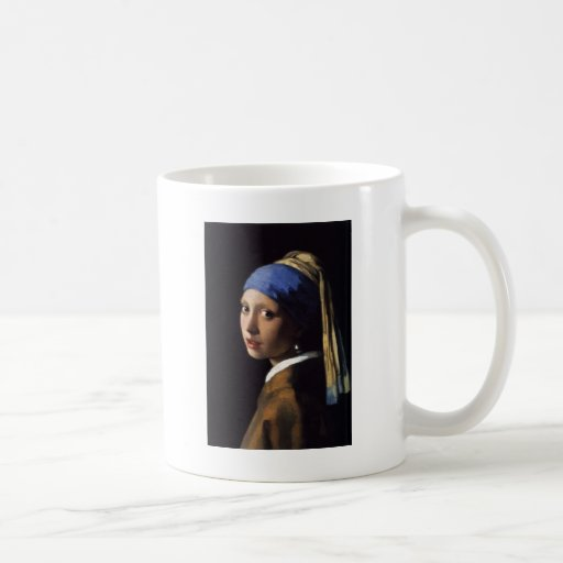 Girl with a Pearl Earring Classic White Coffee Mug