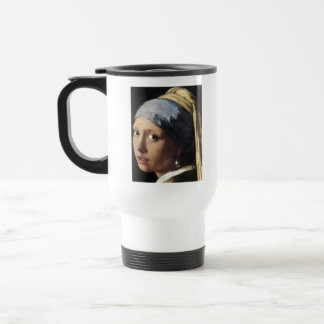 Girl With a Pearl Earring (detail) 15 Oz Stainless Steel Travel Mug
