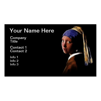 Girl with a Pearl Earring Digital Painting Vermeer Business Cards