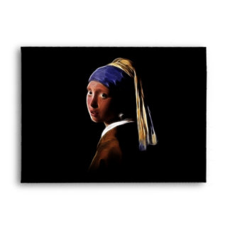 Girl with a Pearl Earring Digital Painting Vermeer Envelope