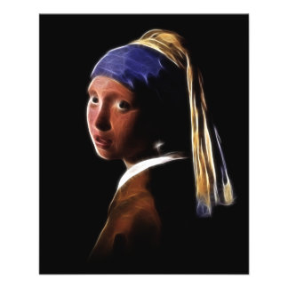 Girl with a Pearl Earring Digital Painting Vermeer Flyer