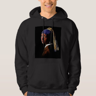 Girl with a Pearl Earring Digital Painting Vermeer Pullover