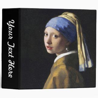 Girl with a Pearl Earring, Jan Vermeer 3 Ring Binder