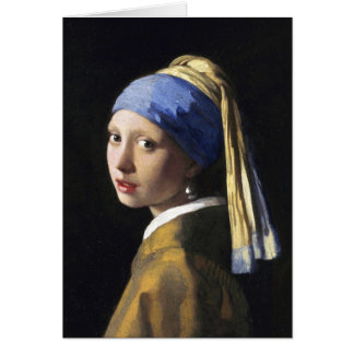 Girl with a Pearl Earring, Jan Vermeer Card