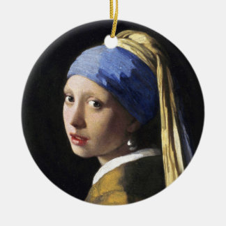 Girl with a Pearl Earring, Jan Vermeer Ceramic Ornament