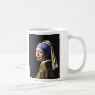 Girl with a Pearl Earring, Jan Vermeer Classic White Coffee Mug