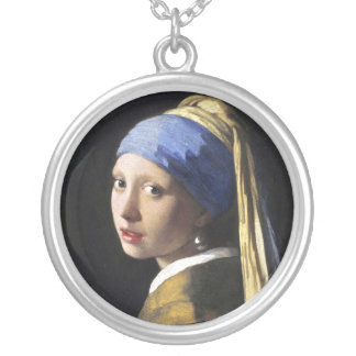 Girl with a Pearl Earring, Jan Vermeer Round Pendant Necklace