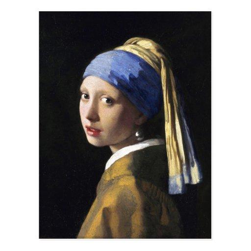 Girl with a pearl earring jan vermeer postcard zazzle for Johannes vermeer girl with a pearl earring