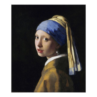 Girl with a Pearl Earring, Jan Vermeer Poster