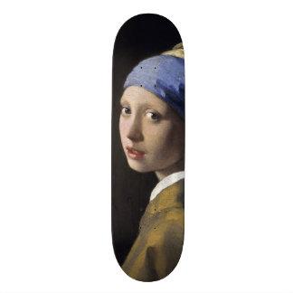 Girl with a Pearl Earring Johannes Vermeer Skateboard Deck