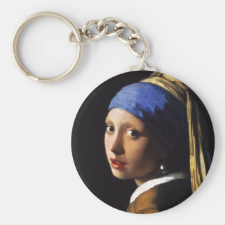 Girl with a Pearl Earring Key Chain