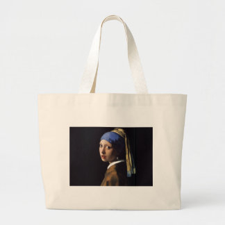 Girl with a Pearl Earring Painting by Vermeer Jumbo Tote Bag