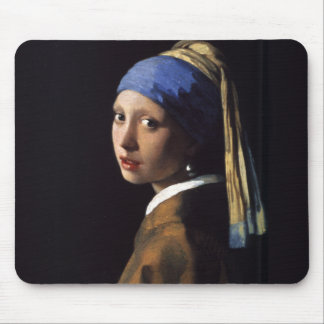 Girl with a Pearl Earring Painting by Vermeer Mouse Pad