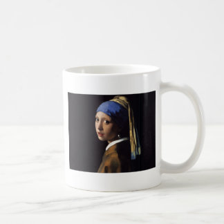 Girl with a Pearl Earring Painting by Vermeer Mugs