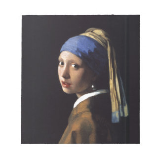Girl with a Pearl Earring Painting by Vermeer Notepad
