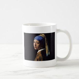 Girl with a Pearl Earring Painting Coffee Mug