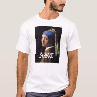 Girl with a Pearl Earring Painting T-Shirt