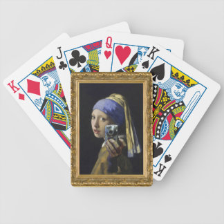 Girl with a Pearl Earring - Self Shot Bicycle Playing Cards
