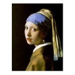 Girl with a Pearl Earring Vermeer Fine Art Postcard