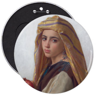 Girl With a Pomegranate by Bouguereau Button