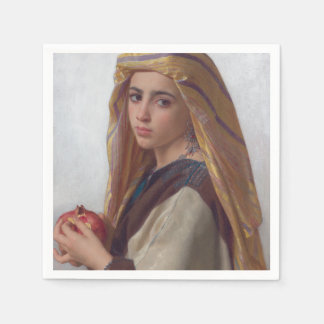 Girl With a Pomegranate by W.A. Bouguereau Napkin