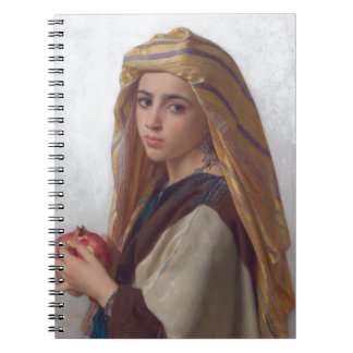 Girl With a Pomegranate by W.A. Bouguereau Spiral Notebook