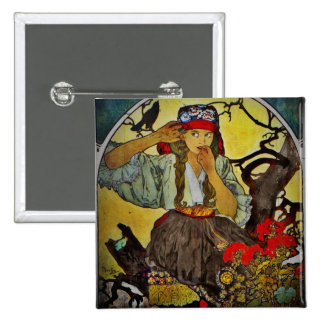 Girl with a Raven Pin