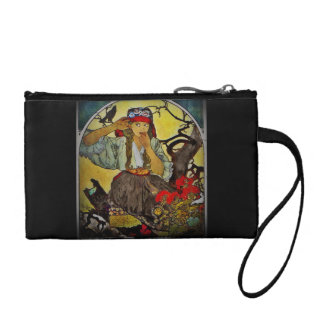 Girl with a Raven Coin Wallet